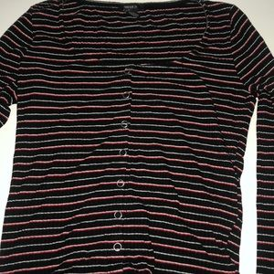 Black White and Red Striped Forever 21 Long Sleeve